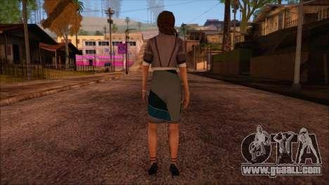Modern Woman Skin 4 v2 for GTA San Andreas second screenshot