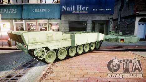 Leopard 2A7 DE Green for GTA 4 back view