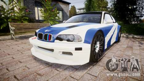 BMW M3 E46 GTR Most Wanted plate NFS Carbon for GTA 4