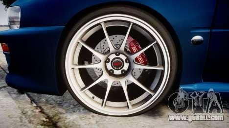 Subaru Impreza 22B Street for GTA 4 back view