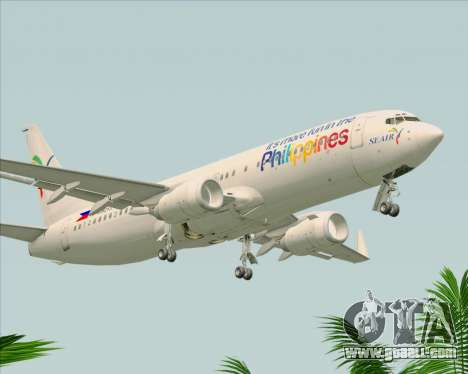 Boeing 737-800 South East Asian Airlines (SEAIR) for GTA San Andreas right view