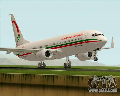 Boeing 737-8B6 Royal Air Maroc (RAM) for GTA San Andreas bottom view