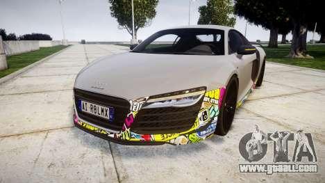 Audi R8 LMX 2015 [EPM] Sticker Bomb for GTA 4