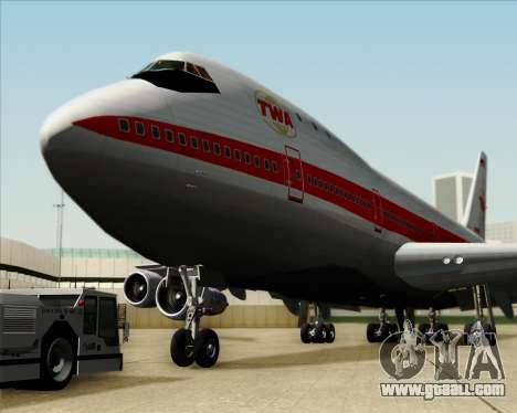 Boeing 747-100 Trans World Airlines (TWA) for GTA San Andreas bottom view