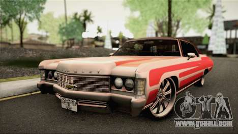 Chevrolet Impala Lowrider for GTA San Andreas