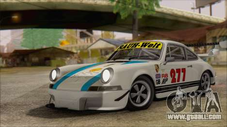 Porsche 911 Carrera 1973 Tunable KIT C for GTA San Andreas inner view