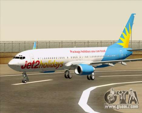 Boeing 737-800 Jet2Holidays for GTA San Andreas wheels