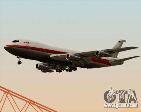 Boeing 747-100 Trans World Airlines (TWA) for GTA San Andreas inner view