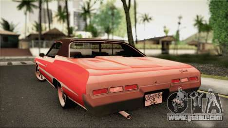 Chevrolet Impala Lowrider for GTA San Andreas left view
