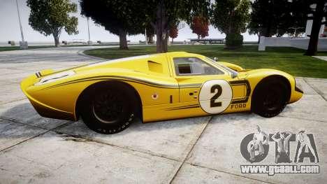Ford GT40 Mark IV 1967 PJ 2 for GTA 4 left view