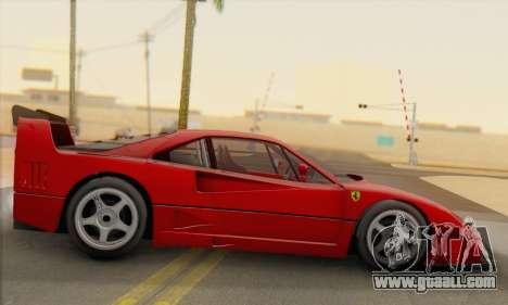 Ferrari F40 Competizione Black Revel for GTA San Andreas left view