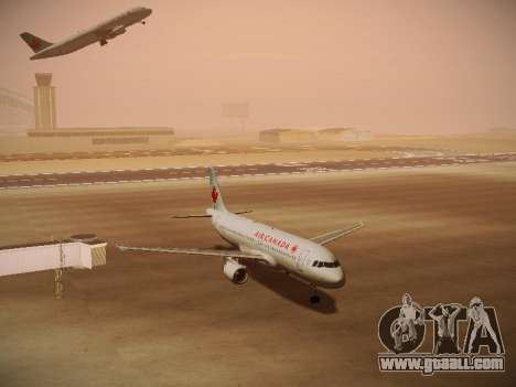 Airbus A320-214 Air Canada for GTA San Andreas left view