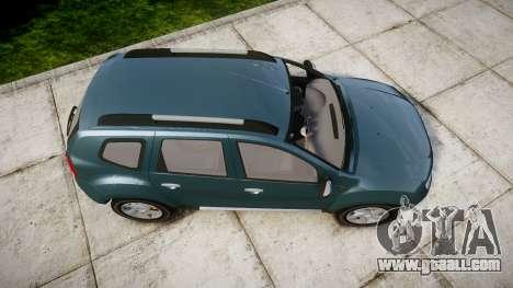 Dacia Duster 2013 for GTA 4 right view