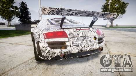 Audi R8 LMS Sharpie for GTA 4 back left view