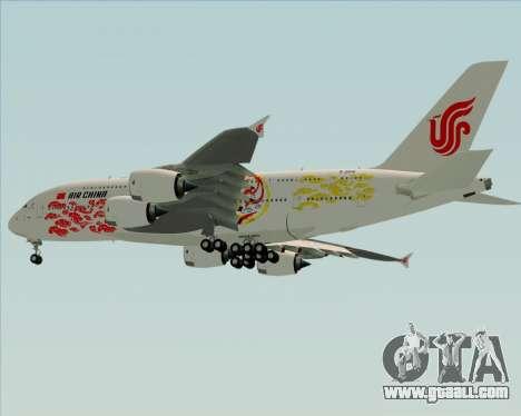 Airbus A380-800 Air China for GTA San Andreas side view