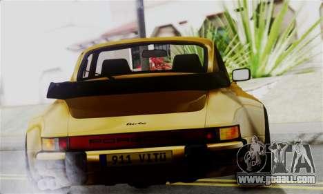 Porche 911 Turbo 1982 for GTA San Andreas back left view