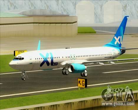 Boeing 737-800 XL Airways for GTA San Andreas upper view