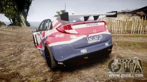 Honda Civic Type R for GTA 4 back left view