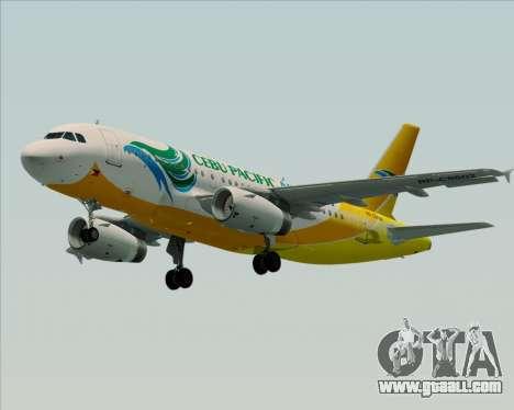 Airbus A319-100 Cebu Pacific Air for GTA San Andreas right view