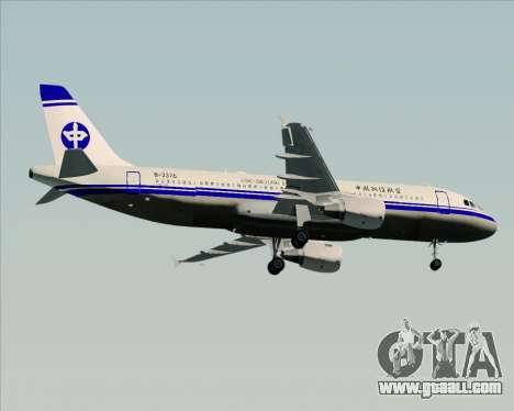 Airbus A320-200 CNAC-Zhejiang Airlines for GTA San Andreas side view