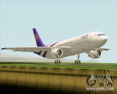Airbus A300-600 Thai Airways International for GTA San Andreas back view