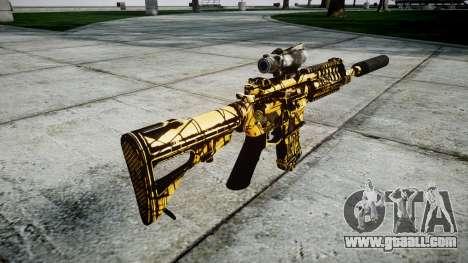 Machine P416 ACOG silencer PJ4 for GTA 4 second screenshot