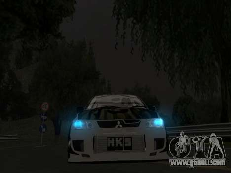 Mitsubishi Lancer Evo 9 VCDT for GTA San Andreas right view