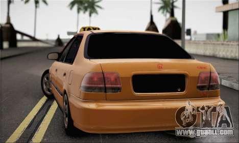 Honda Civic Fake Taxi for GTA San Andreas left view