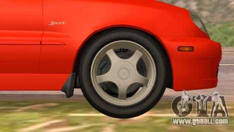 Daewoo Lanos Sport US 2001 for GTA San Andreas interior