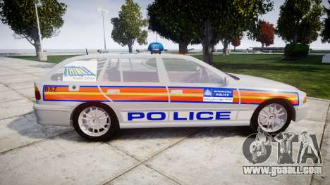 BMW 525i E39 Touring Police [ELS] JSTV for GTA 4 left view