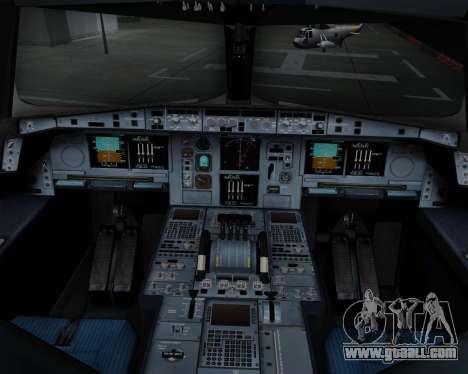 Airbus A380-800 Air China for GTA San Andreas interior