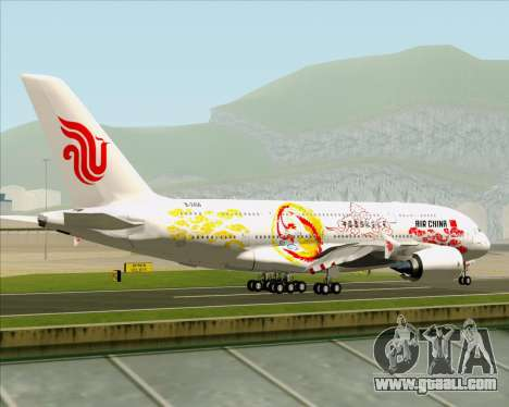 Airbus A380-800 Air China for GTA San Andreas right view