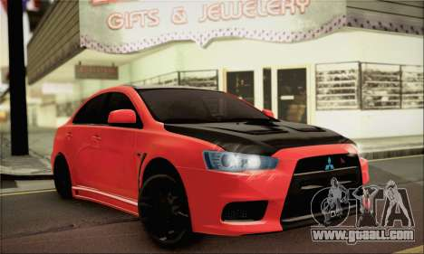 Mitsubishi Lancer Evo X for GTA San Andreas