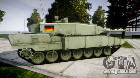 Leopard 2A7 DE Green for GTA 4 left view