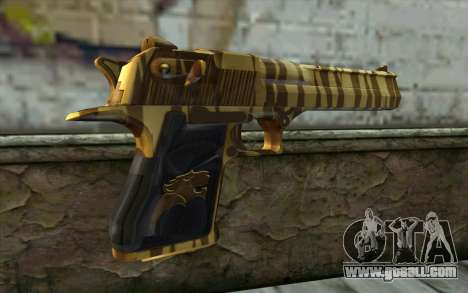 Desert Eagle Gold v2 for GTA San Andreas second screenshot