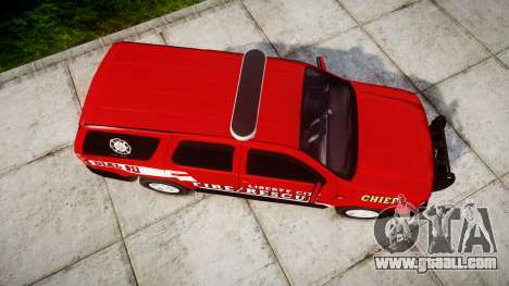 Chevrolet Tahoe Fire Chief [ELS] for GTA 4 right view