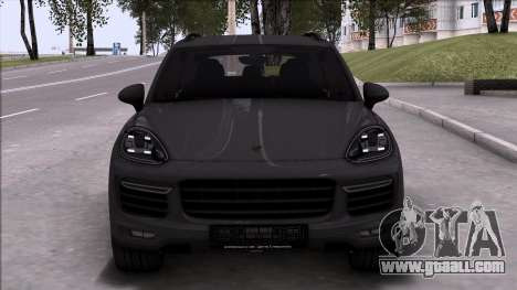Porsche Cayenne Turbo 2015 for GTA San Andreas left view