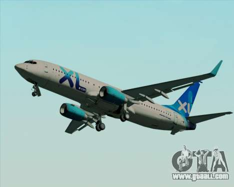 Boeing 737-800 XL Airways for GTA San Andreas inner view