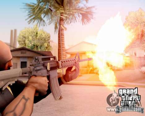M4A1 BF4 for GTA San Andreas fifth screenshot