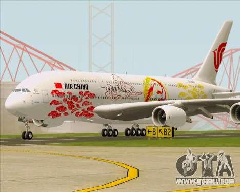 Airbus A380-800 Air China for GTA San Andreas left view