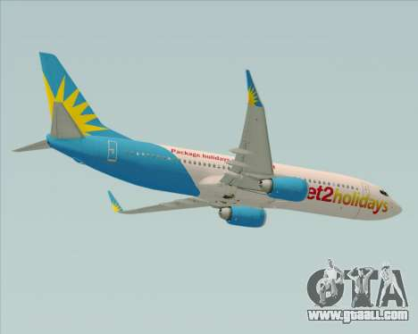 Boeing 737-800 Jet2Holidays for GTA San Andreas inner view
