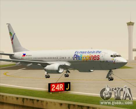 Boeing 737-800 South East Asian Airlines (SEAIR) for GTA San Andreas inner view