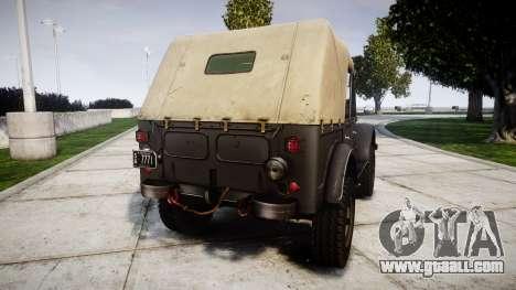 GAZ-69 for GTA 4 back left view