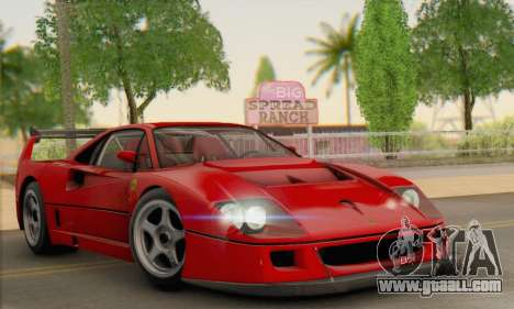 Ferrari F40 Competizione Black Revel for GTA San Andreas