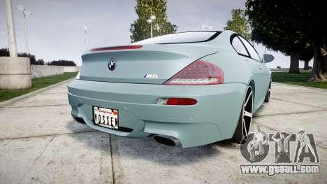 BMW M6 Vossen VVS CV3 for GTA 4 back left view