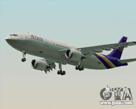 Airbus A300-600 Thai Airways International for GTA San Andreas inner view