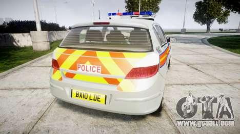 Vauxhall Astra 2010 Metropolitan Police [ELS] for GTA 4 back left view