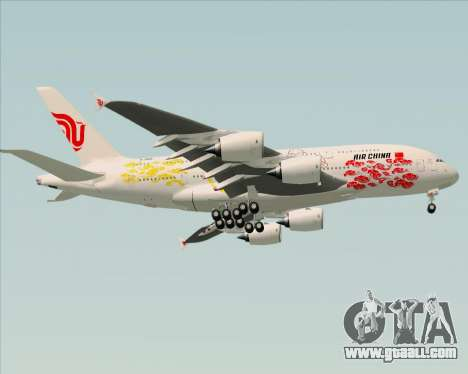 Airbus A380-800 Air China for GTA San Andreas back view