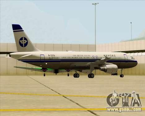 Airbus A320-200 CNAC-Zhejiang Airlines for GTA San Andreas wheels