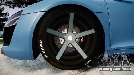Audi R8 V10 Plus 2013 Vossen VVS CV3 for GTA 4 back view
